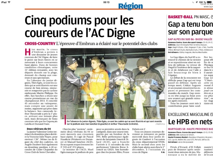 Cinq podiums à Embrun
