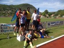 Adrien, Vice-Champion de Provence parmi ses partenaires de compétition